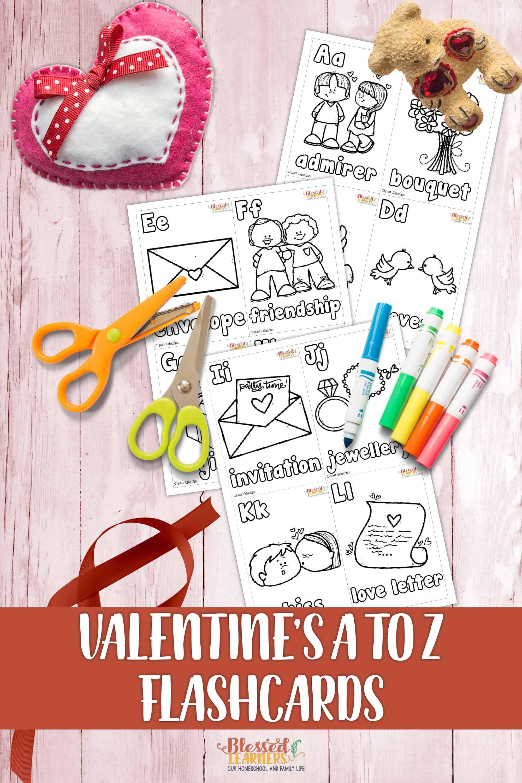 Free Valentine S Alphabet Flashcards