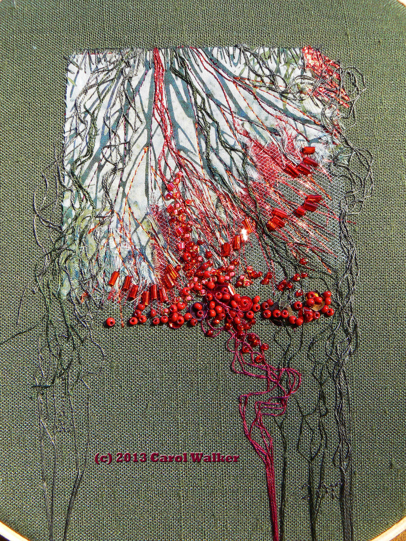 Seep P1430294 Cpyrt Fiber Art Textile Art Embroidery Fiber Art