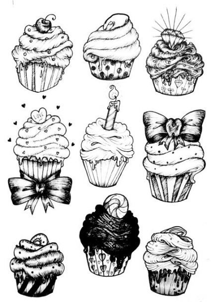 67 Super Ideas For Cupcakes Drawing Creepy Cupcake Drawing Candy Drawing Creepy Drawings