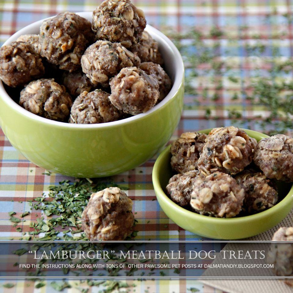 Recipe Lamburger Meatball Dog Treats With Rosemary Dog