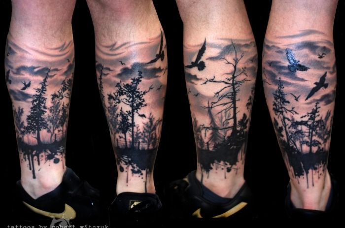 Forest In Shadow Tattoo By Robert Witczuk E1395608862711 700x463