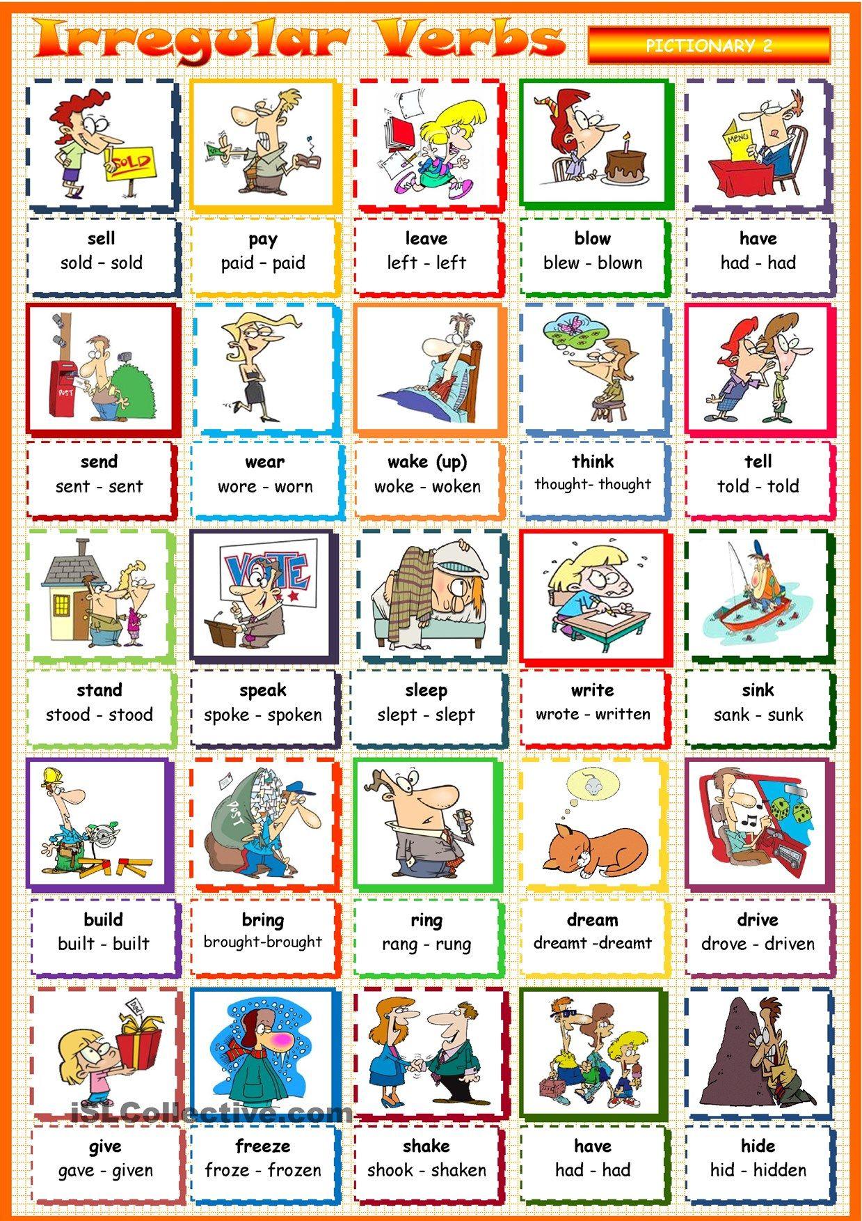 Irregular Verbs 2 | verbs | Pinterest