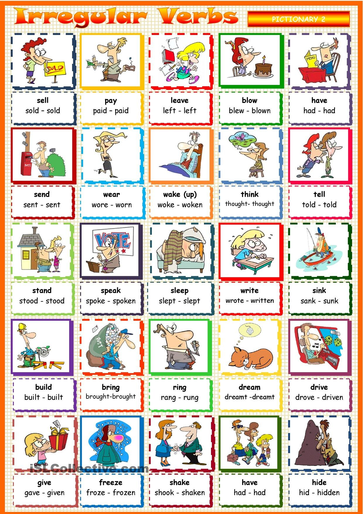 Irregular Verbs 2 Werkjes