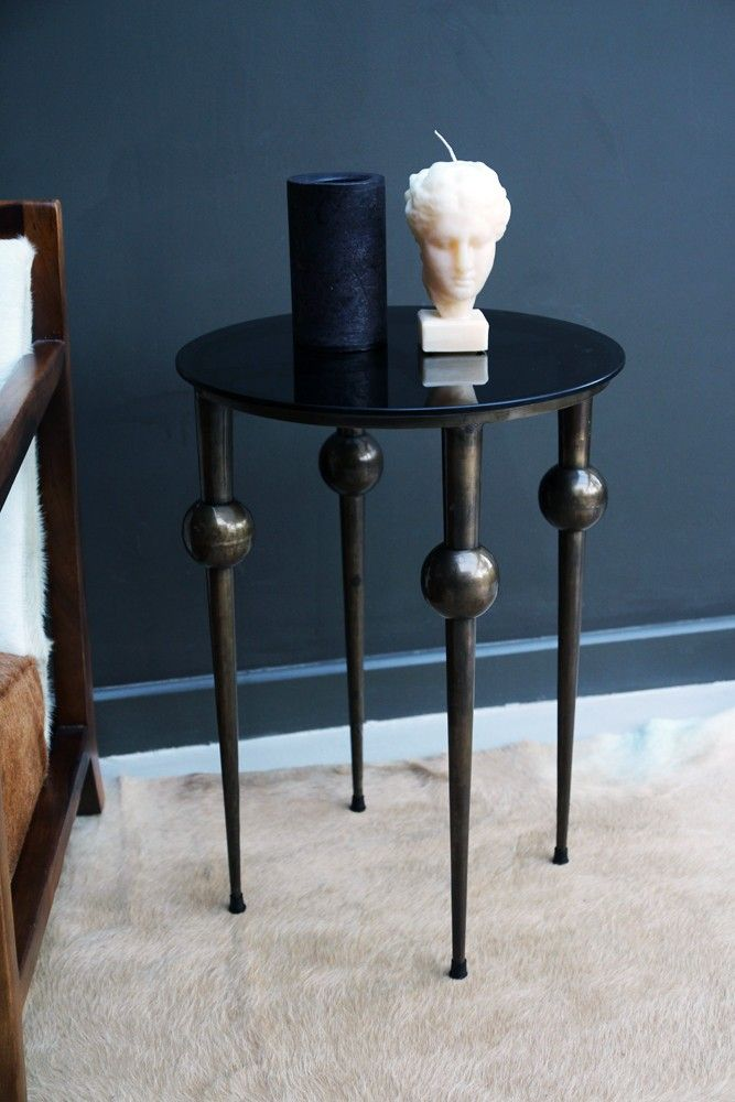 Sphere Leg Side Table Coffee Amp Side Tables Furniture Side Table Table Furniture Dark Table