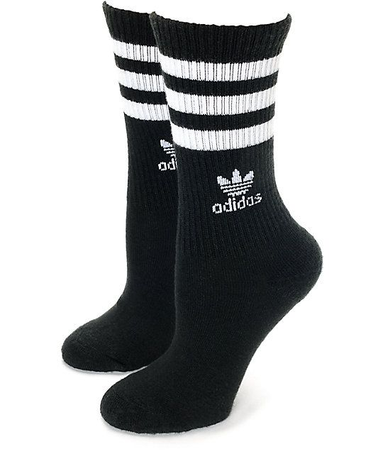 The Roller crew socks from adidas offer comfort and style you can wear with  any outfit. For that Cali skater vibe 40cf92b53