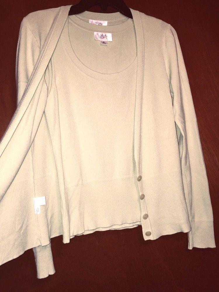 06aead452f Loft Women Cardigan Button up long slv Size S Top Tank Size M Knit Set Lot  Green  AnnTaylorLOFT  KnitTop  Career