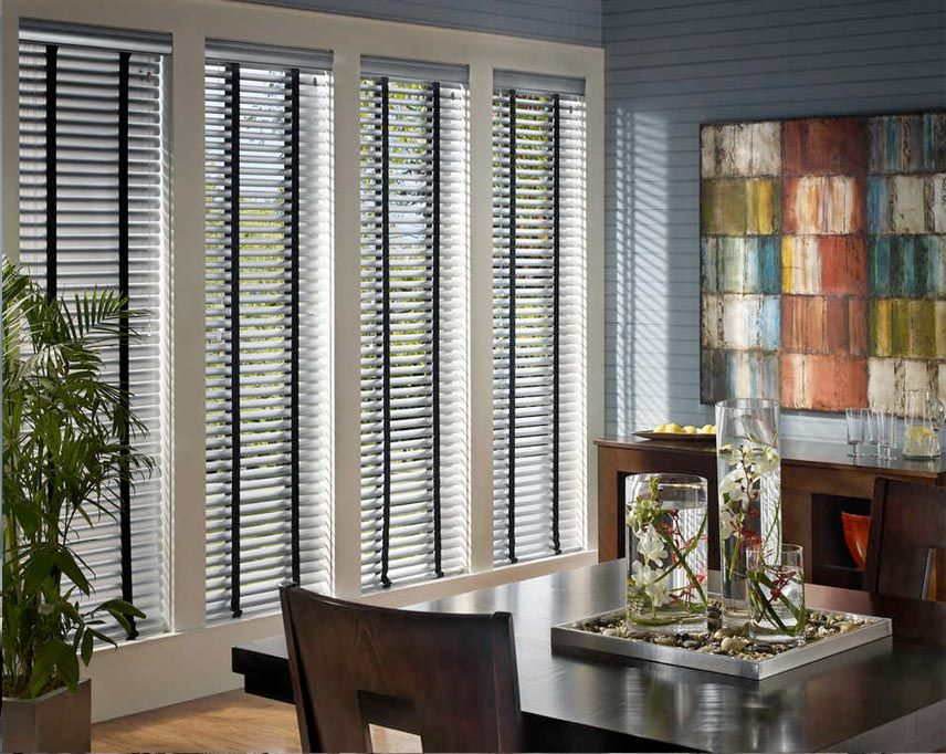 Hunter Douglas Macro Blinds In A Transitional Dining Room Give Your Lots Of Stylish Options For