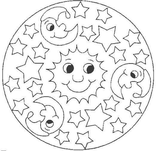 Bonitos Mandalas para niños: Diseños para colorear y aumentar la ...
