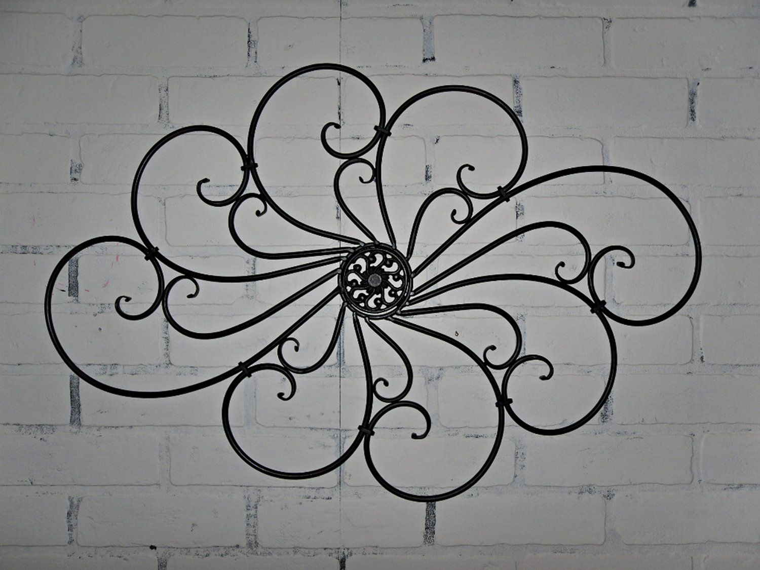 Black Wrought Iron Wall Hangings Mesmerizing Wrought Iron Wall Decor Wall Hanging  Indoor  Outdoor  Patio Inspiration