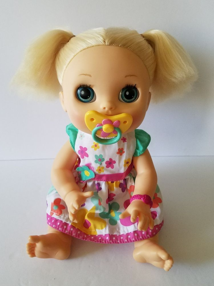 Baby Alive Real Surprises Interactive Doll English Spanish 2012 Tested And Works Has Dolls Baby Alive Baby Alive Dolls Dolls