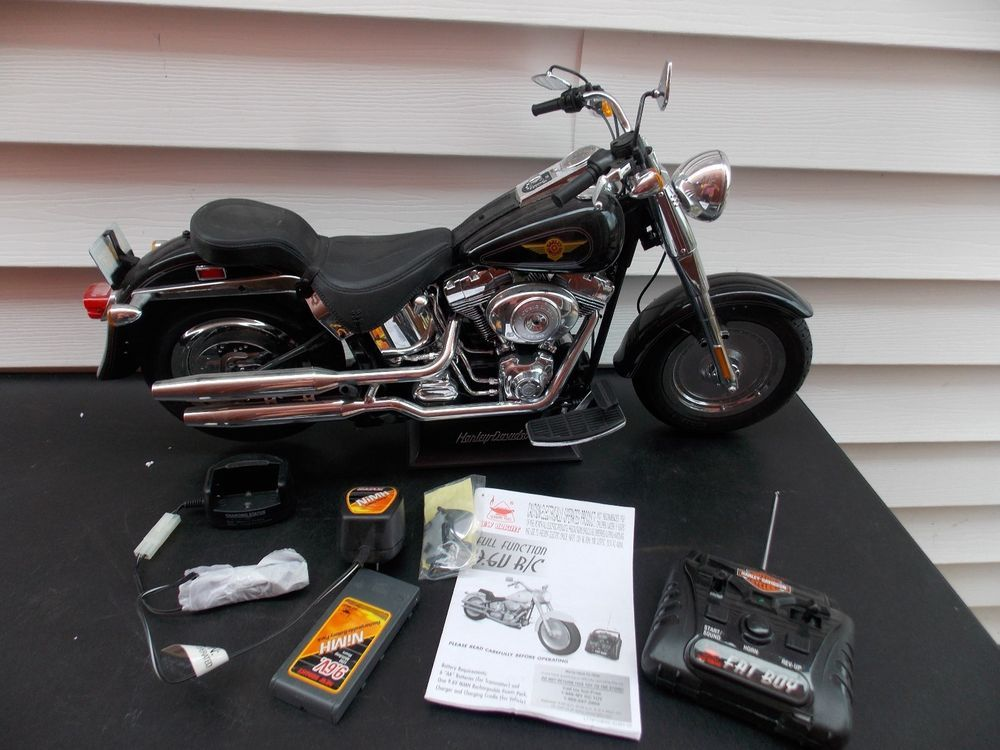 Harley Davidson Radio Remote Controlled Motorcycle Fat Boy New ...