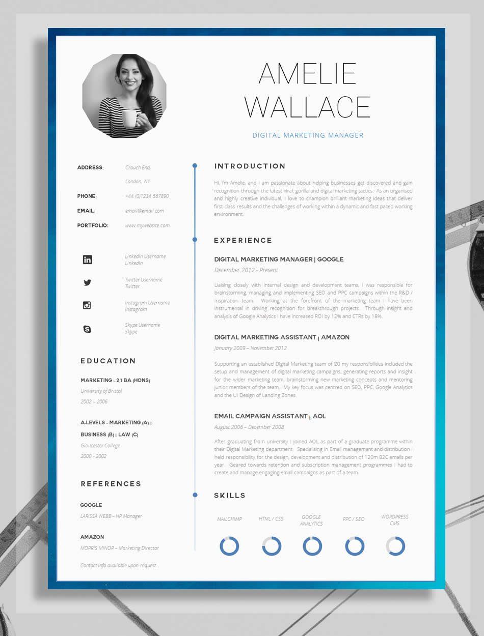 Resume Template for Word Printable CV for Word High