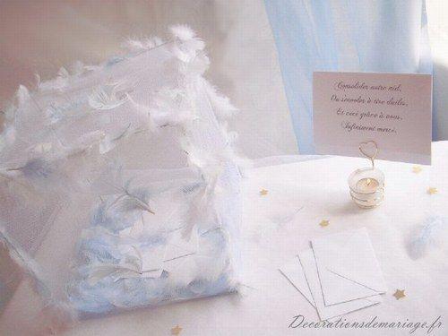 Idées de décoration de mariage faire part marque place menu
