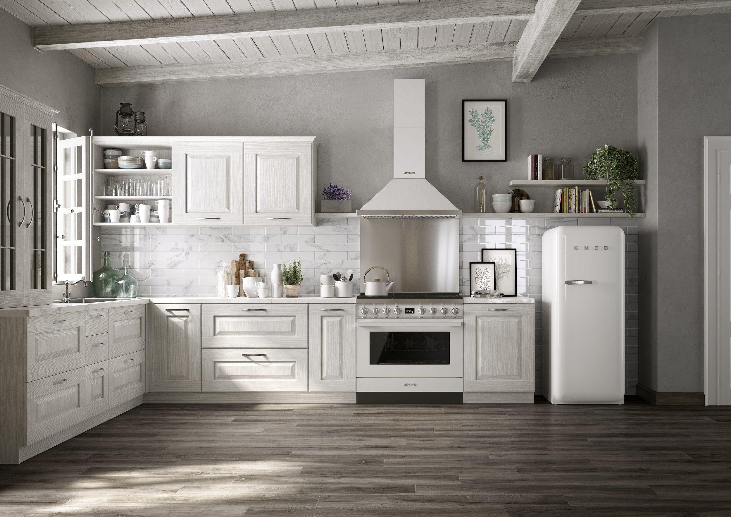 Küche Mit Retro Kühlschrank : Ein küchentraum in weiß mit retro kühlschrank und unseren neuen