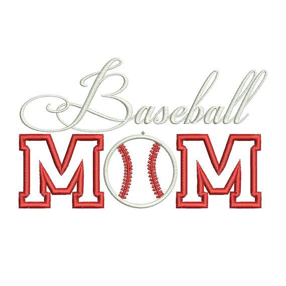 Baseball Mom Embroidery Design PES Machine Applique Designs 3