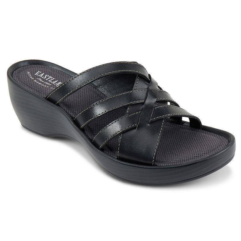 Eastland Poppy Women S Strappy Slide Wedge Sandals Size