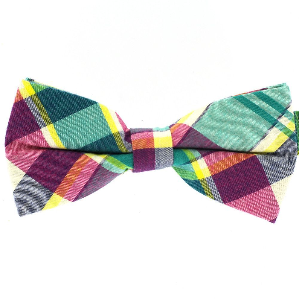 Tok Tok Designs Men's Pre-Tied Bow Tie (B74, Denim)