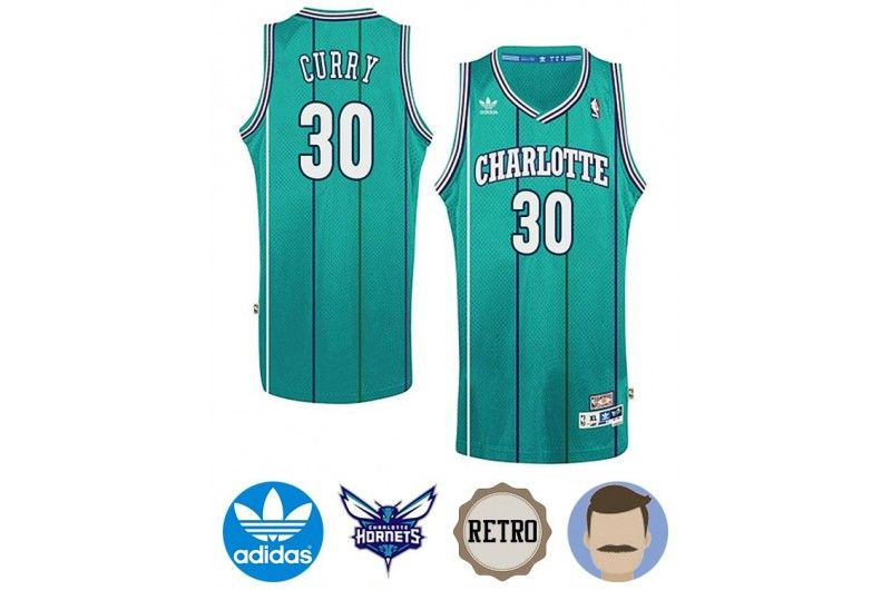 Men s Dell Curry  30 Cyan Hardwood Classics Jersey Charlotte Hornets 811568a94