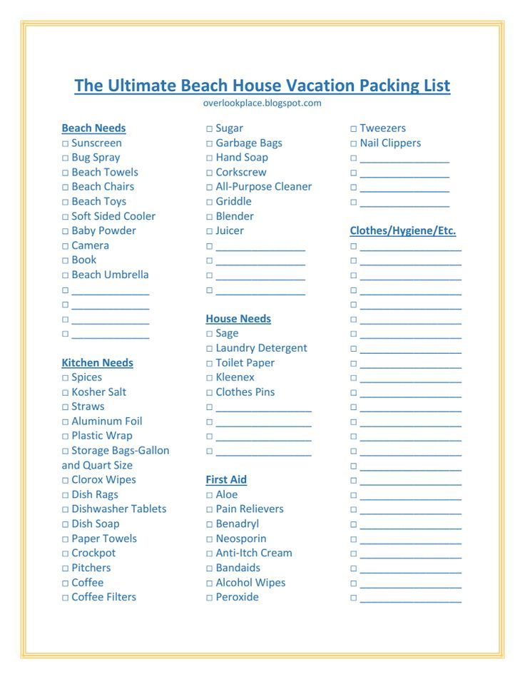 Take your trip with Glamulet charmsThe Ultimate Beach House - vacation checklist
