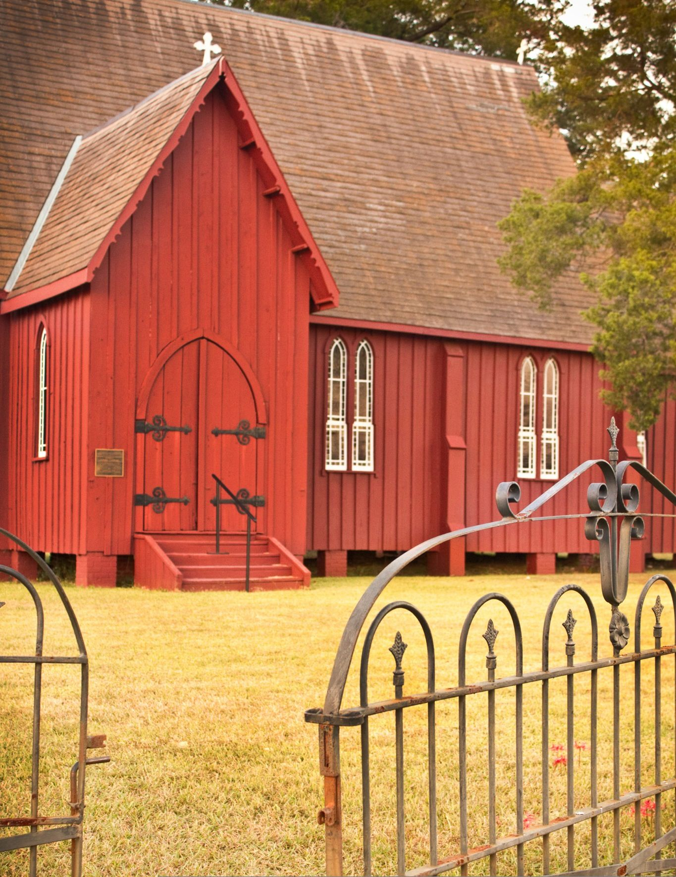 Board And Batten Siding Adds Charm To This Barn Red Rural Gothic Church