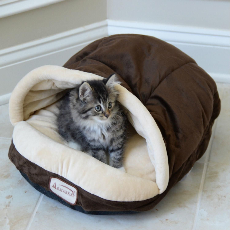 Armarkat Slipper Shape Pet Bed Mocha/Beige Cat bed