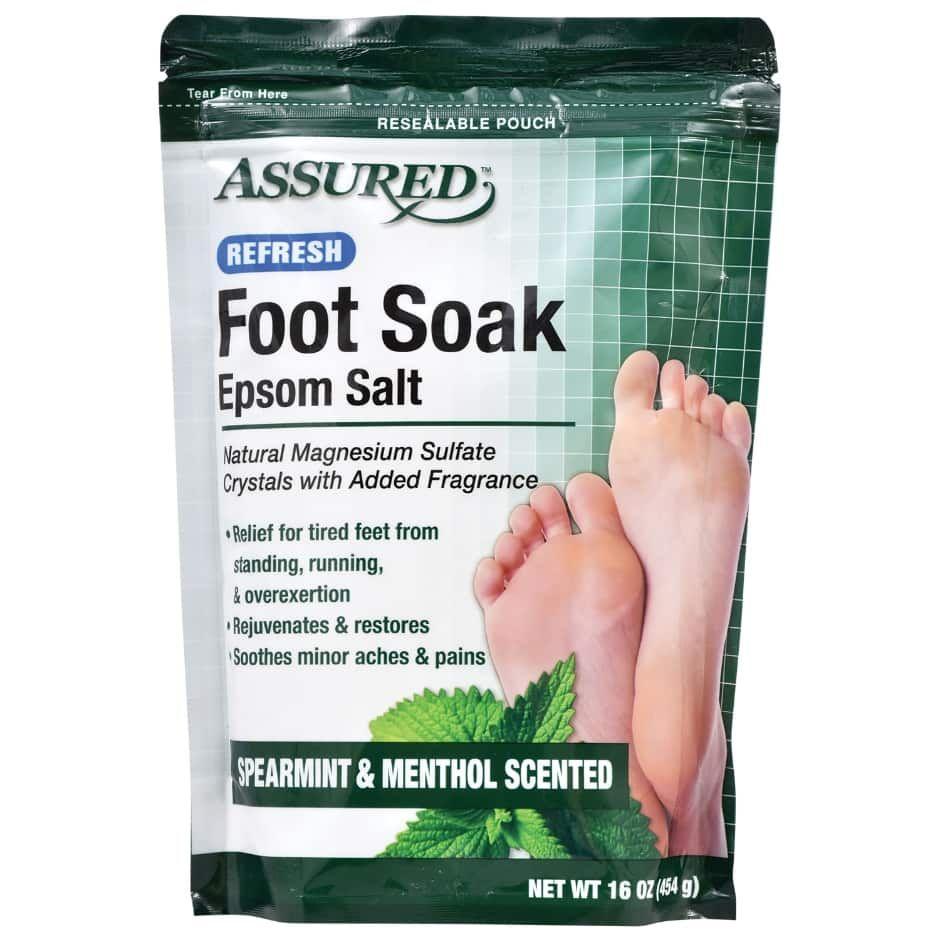 Assured Epsom Salt Foot Soak with Spearmint and Menthol