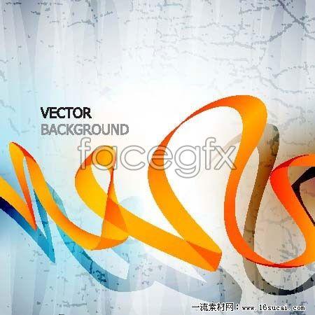 Dynamic and elegant Ribbon illustration vector