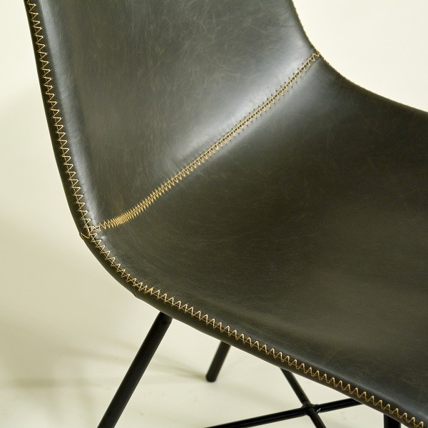 Design Stuhl Edel Grau Mit Toller Kontrast Naht Polsterstuhl Stuhle Vintage Stuhle