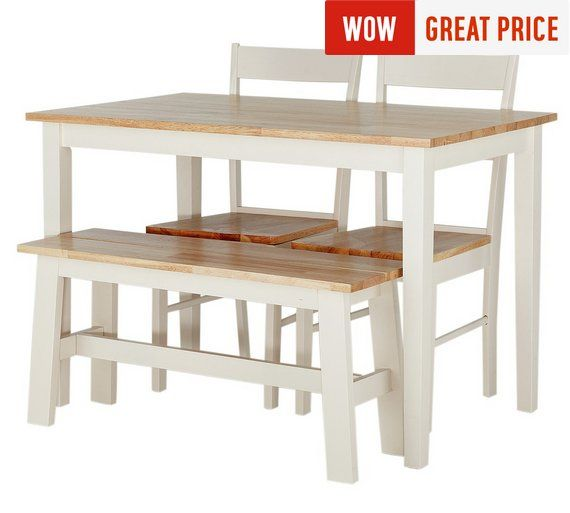 Buy Argos Home Chicago Solid Wood Table, 2 Chairs & Bench