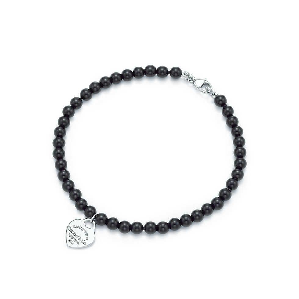 economico per lo sconto 3209b b9c4e Piastrina cuore mini Return to Tiffany™, arg,; bracciale a ...