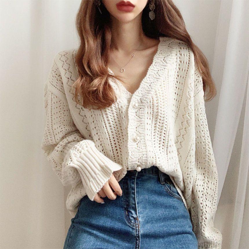 Boho Knit Cardigan Sweater Light Top Women/'s Fall Fashion Red Cardigan Long Top Knit Sweater Knit Top Knit Fashion Knit Cardigan