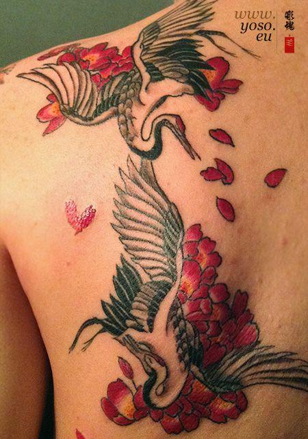 Cranes Tattoo Crane Tattoo Tattoos Cover Tattoo
