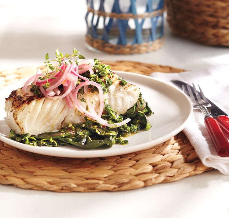 grilled halibut  chard with gremolata topping  good healthy recipes healthy cooking
