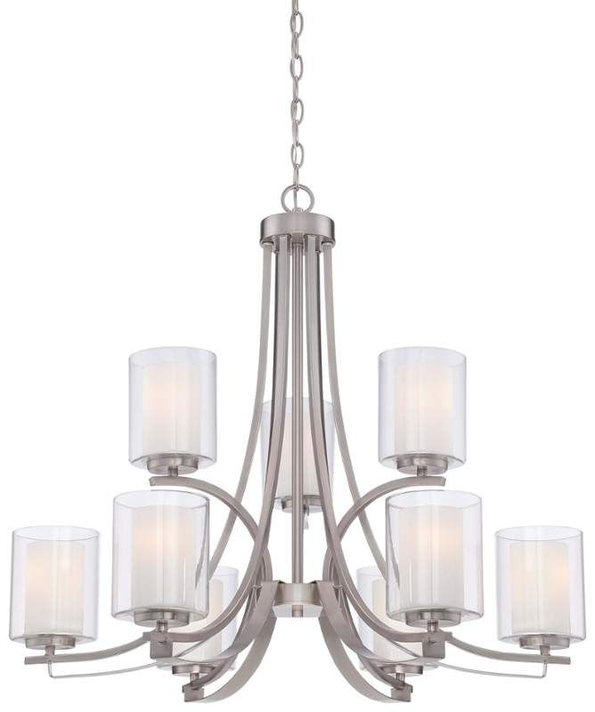 View the minka lavery 4109 84 9 light 2 tier chandeliers from the minka lavery 9 light 2 tier chandeliers from the parsons studio collecti brushed nickel indoor lighting chandeliers aloadofball Choice Image