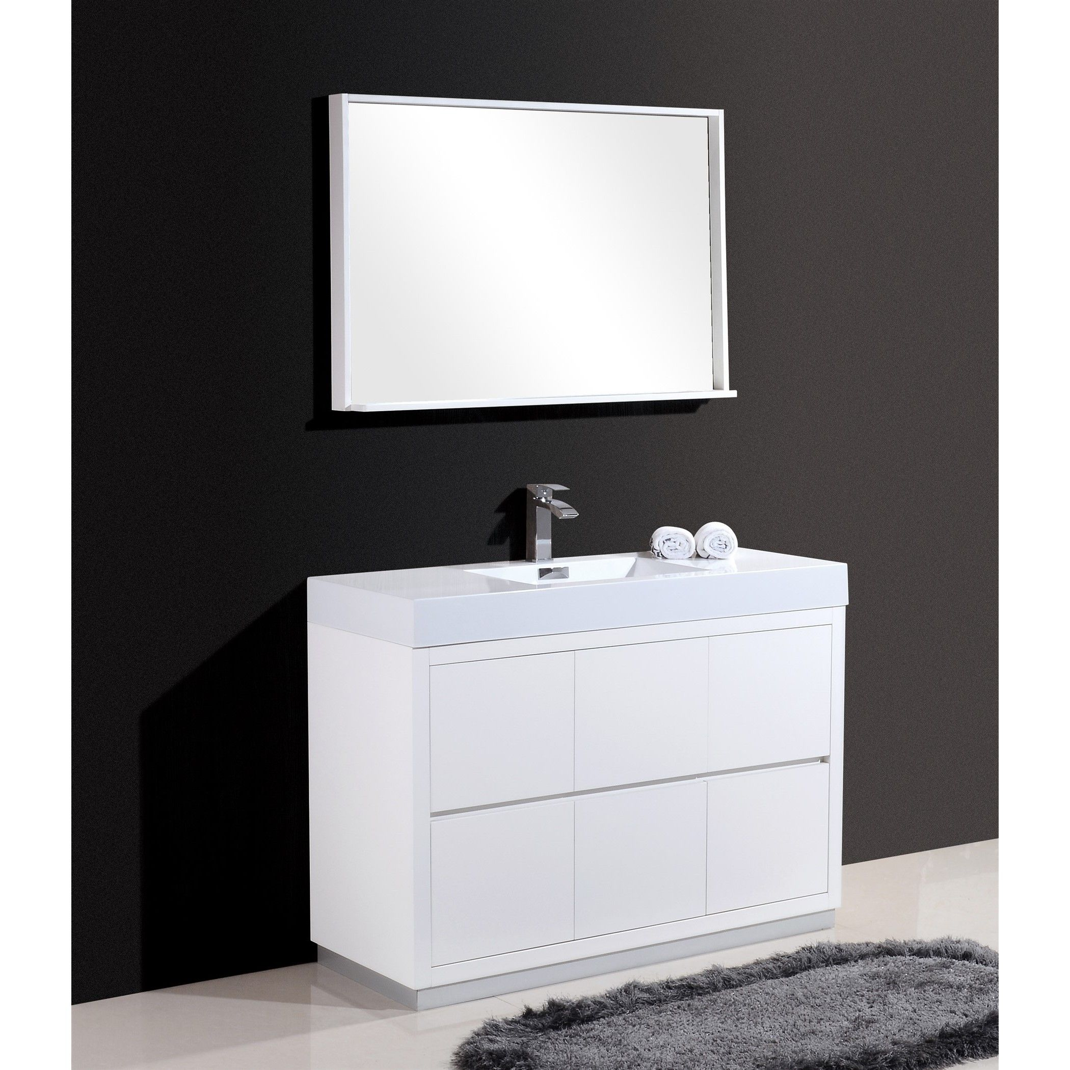 Kube Bath KubeBath Bliss 48 inch Single sink Bathroom Vanity Gray