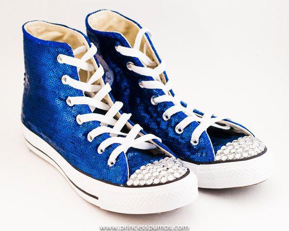 62c28b00c3df Tiny Sequin - Starlight Sapphire Converse® Canvas Hi Top Sneakers ...