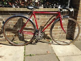vintage mens peugeot road bike size 54cm wine red great condition