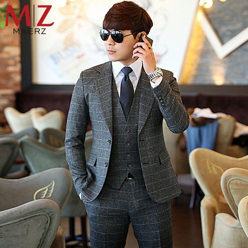 3 piece plaid | Men\'s Fashion | Pinterest | Casual wedding, Mens ...