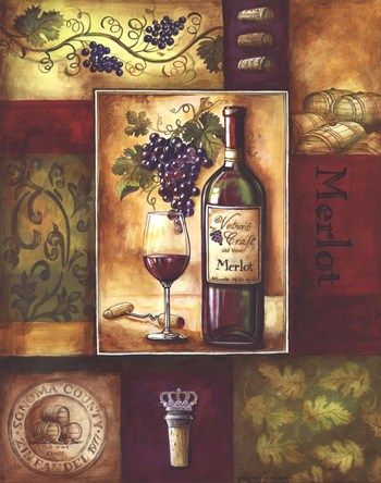 alcohal wine posters | Wine II ~ Fine-Art Print - Merlot Art Prints and Posters - Alcohol ...