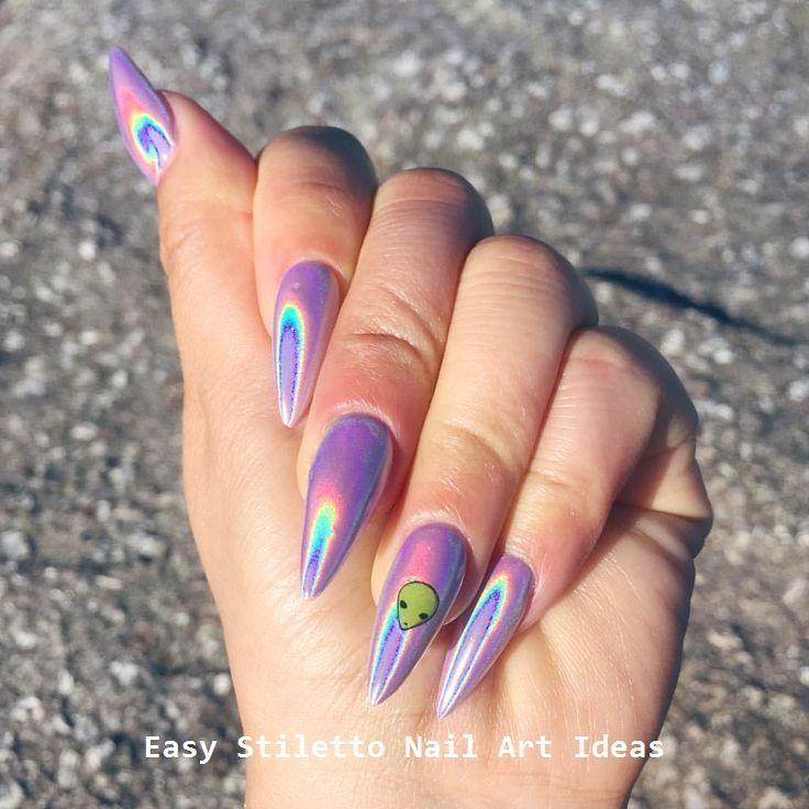 Photo of 30 Great Stiletto Nail Art Design Ideas #nailideas  – Stiletto Nail art – #Art #…