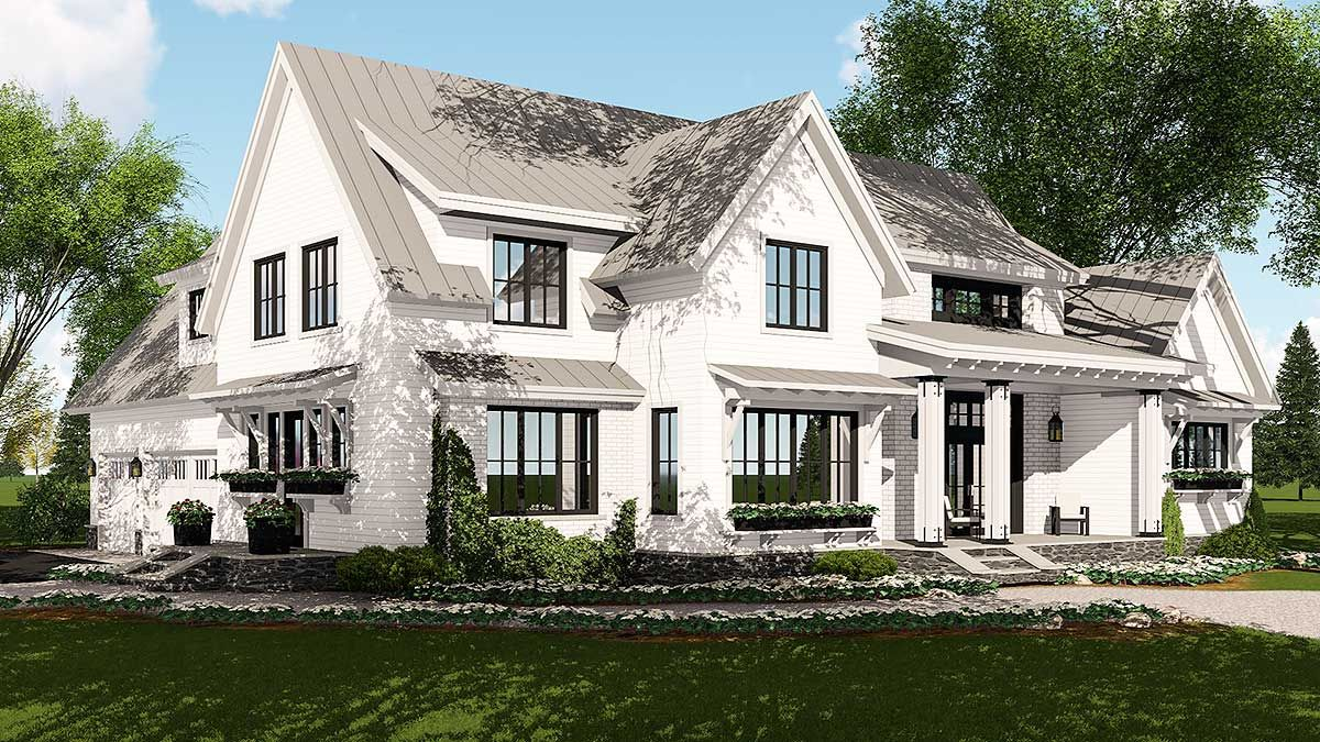 Modern Farmhouse Plan Rich With Features 14662rk Architectural Designs House Pla Farmhouse Style House Farmhouse Style House Plans Modern Farmhouse Plans