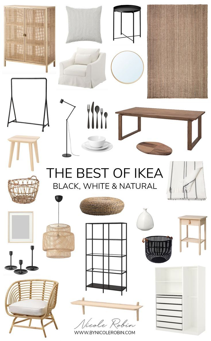 Photo of The Best of Ikea: Black White & Natural Pieces That Look Expensive in 2020 | Home decor, Home living room, Boho living room