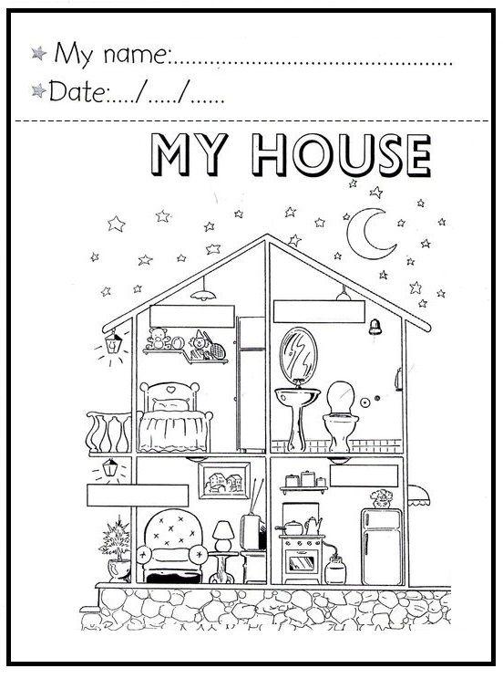 Pin de emilce villalobos cespedes en familias pinterest idiomas casa en ingles y actividades - Partes de la casa en ingles para ninos ...