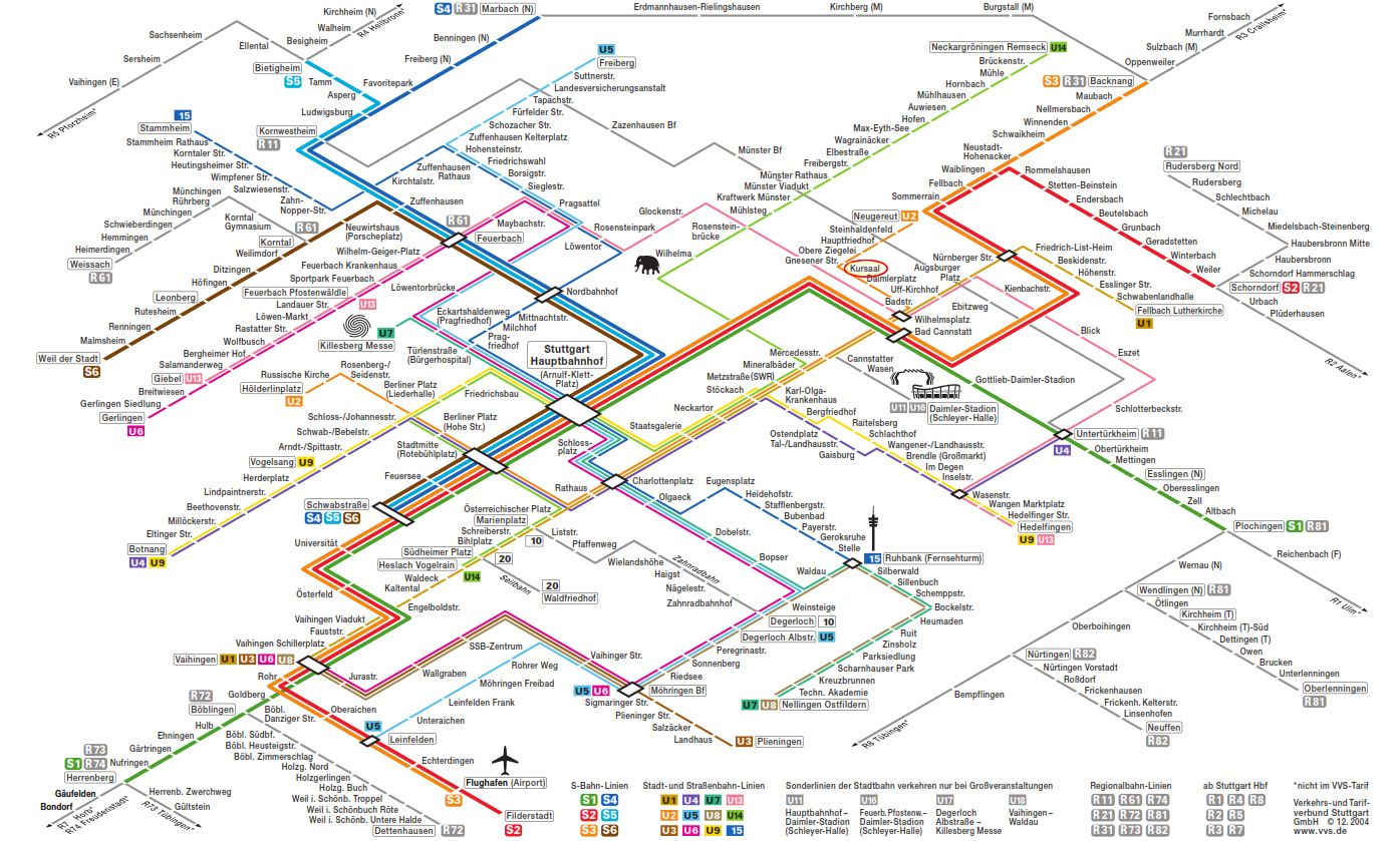 Stuttgart Rapid Transit Map Maps Pinterest Rapid transit and