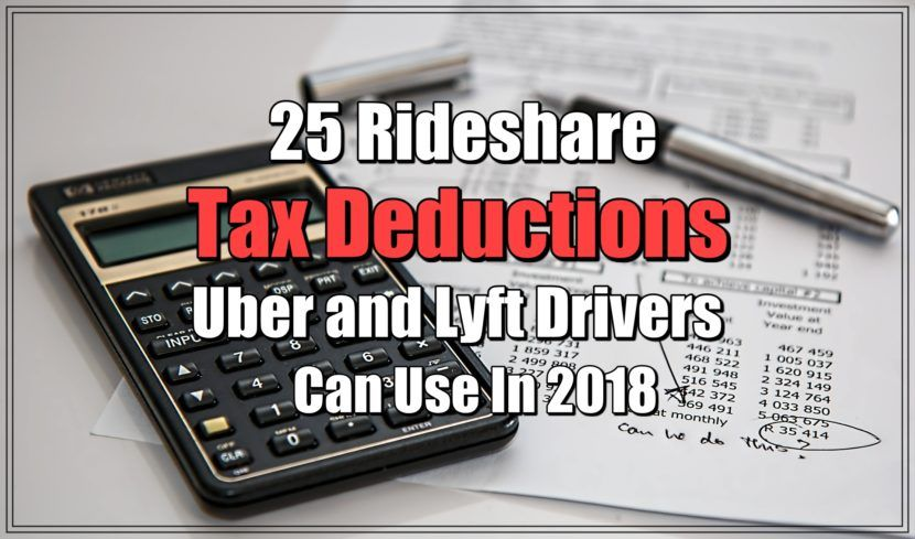 25 Rideshare Tax Deductions Uber and Lyft Drivers Can Use