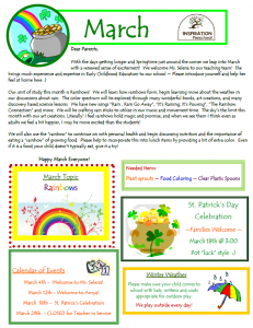 daycare newsletters