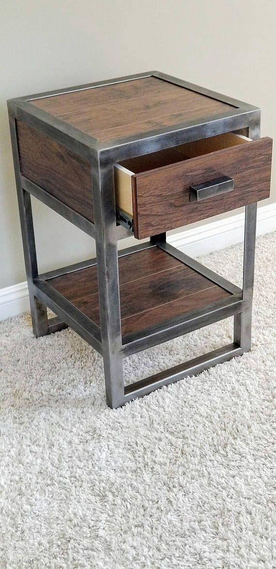 Industrial Bedroom Furniture: Industrial Style Nightstand Single Drawer