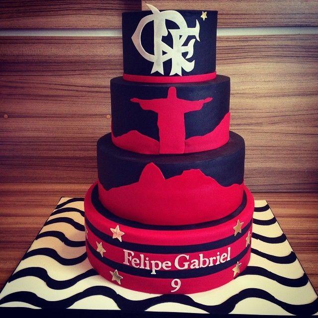 Cake Flamengo Com Imagens Festa Do Flamengo Bolo De