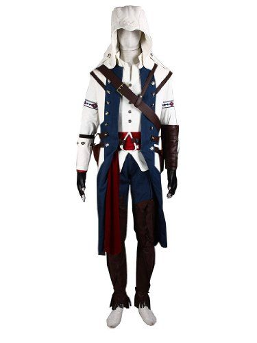 Xcoser Ac3 Costume Connor Kenway White Outfit For Game Cosplay