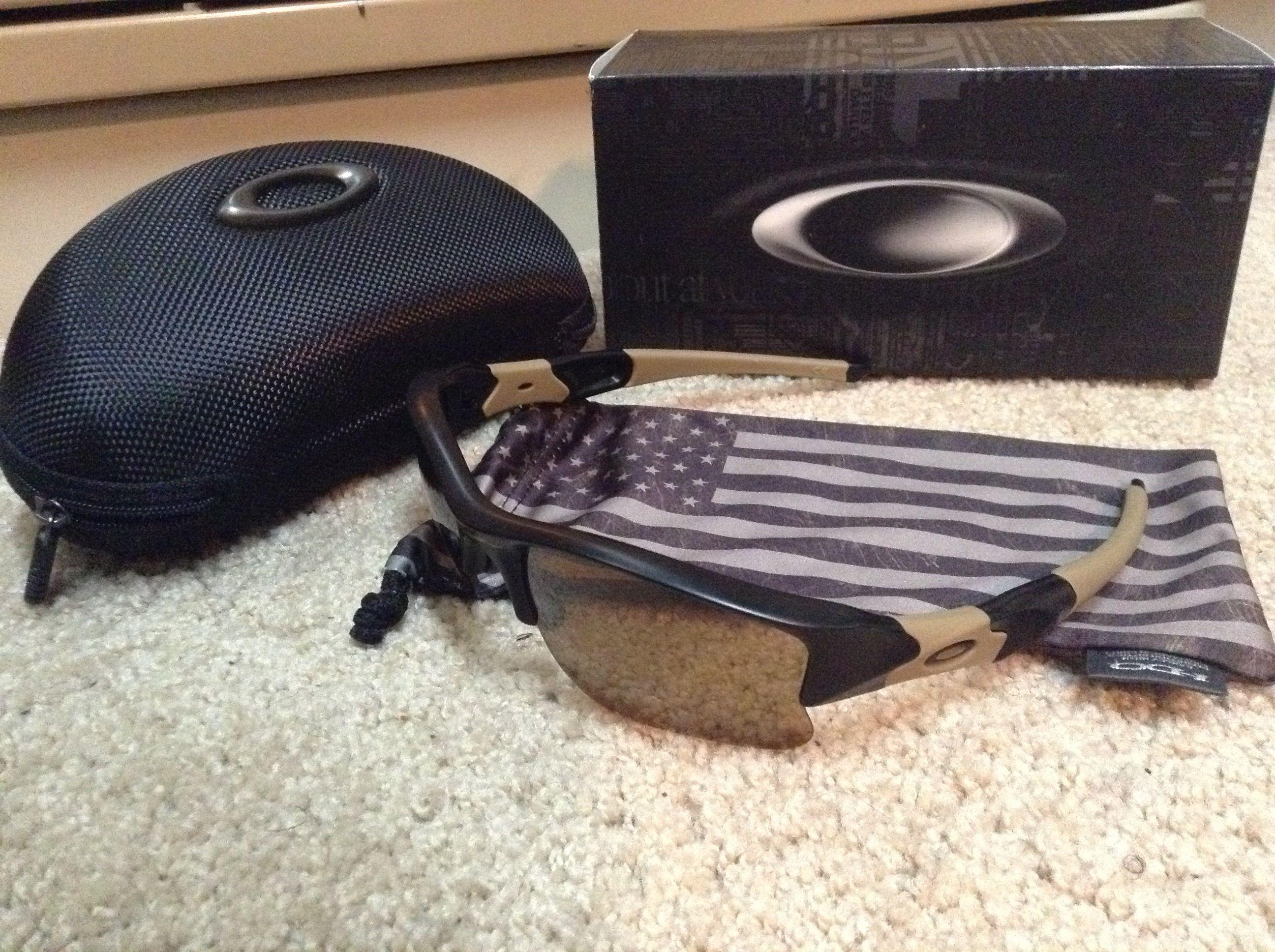 oakley sunglasses standard issue  Oakley Standard Issue Flak Jacket Sunglasses w/ USA Microbag ...